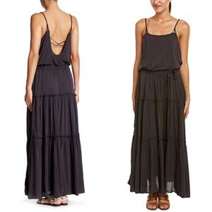 Free People Valerie Dark Grey Maxi Dress
